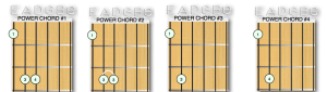 4 different types of power chords